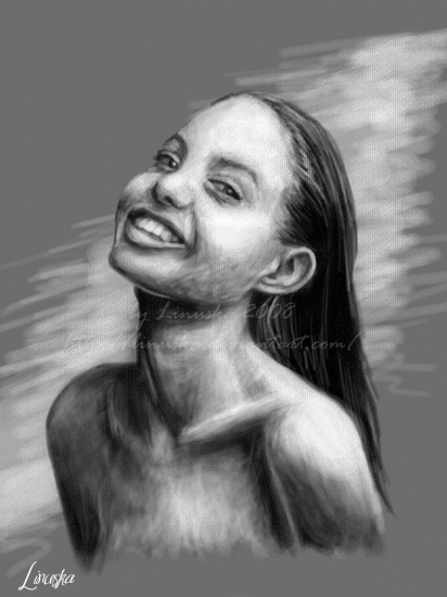 Angelina Jolie por Linuska